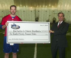Donation to Rusk Institute Veterans MiniCamp 2003
