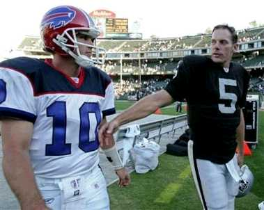 postgame with Kelly Holcomb, vs Bills, game 6, 2005 regular season