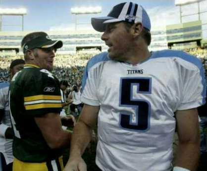 vs Packers, talking with Brett Favre, preseason Game 4, 2006 Season